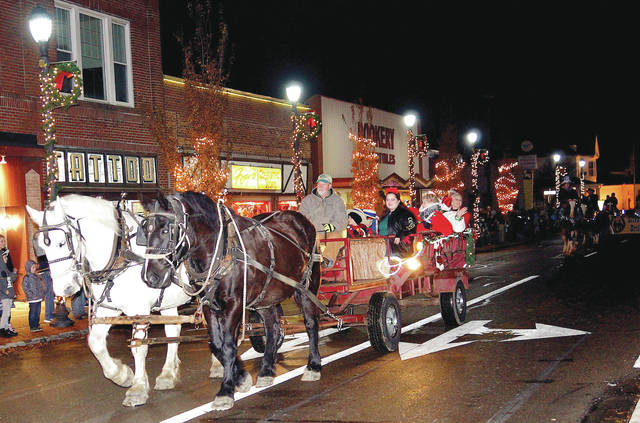 Barb Slone | Greene County News The City of Fairborn hosted its annual Christmas celebration Nov. 30. The event included family-friendly activities, a visit with Santa as well as a parade that featured approximately 40 horses.