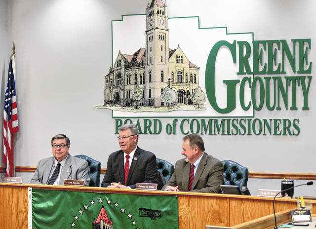 Anna Bolton | Greene County News The board reorganized Jan. 8 with Commissioner Bob Glaser as vice president, Commissioner Tom Koogler as president and newly-elected Commissioner Dick Gould taking the third seat.