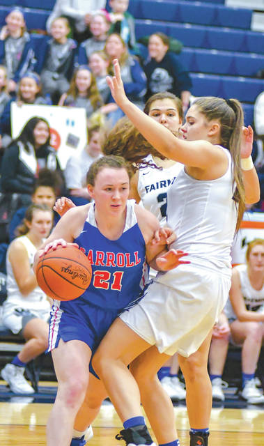 Greene County area schools Carroll, Cedarville and Legacy Christian Academy emerged as the top seeds from the county for the 2019 sectional basketball tournaments. Liz Bush (21) and Carroll are the No. 1 seed in Division II, while Emily Riddle (10) and Legacy Christian; and Maggie Coe and Cedarville are both No. 2 seeds in Division IV.