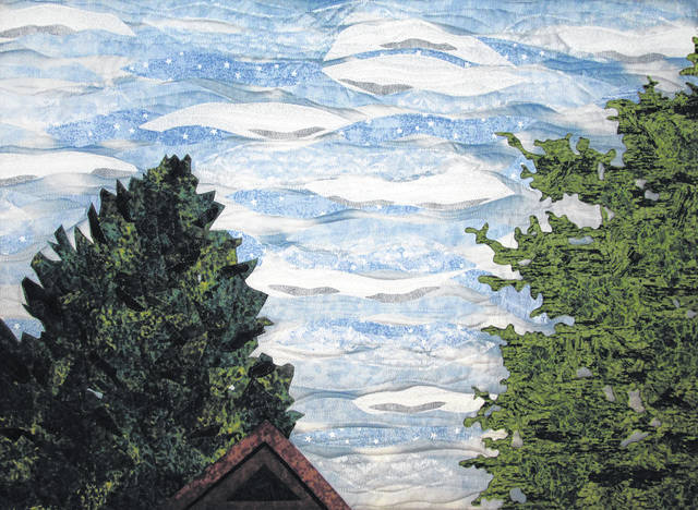 "Submitted photos The View from My Hammock is quilted fiber, 20"" x 30"" by Pam Geisel."