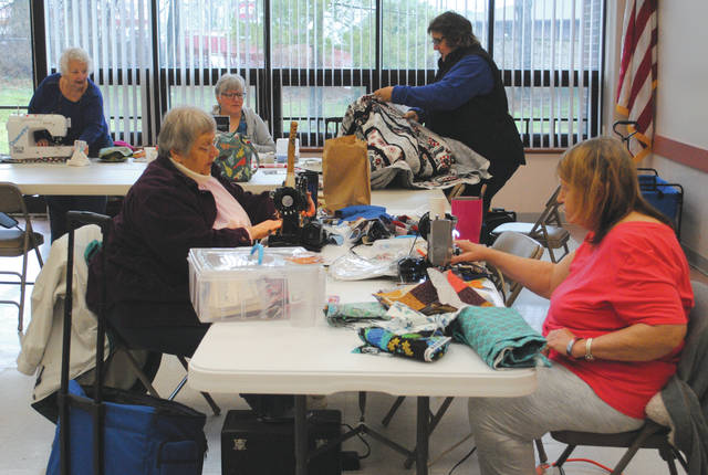 Whitney Vickers | Greene County News The Miami Valley Quilting Guild offers a sew in at the Fairborn Senior Center beginning 11 a.m. every Monday in the great room.