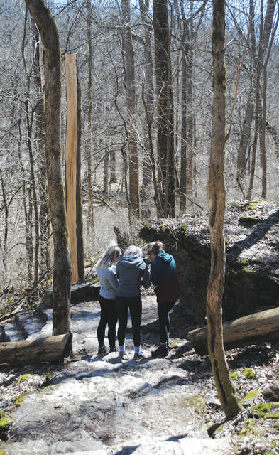 Whitney Vickers | Greene County News As warmer temperatures are becoming the norm again, more individuals are making their way outdoors. Glen Helen in Yellow Springs was buzzing with visitors March 26.