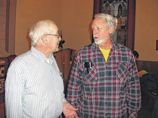 Greene County Farm Forum Elects Mark Thordsen as president, he is pictured with past president Paul Ayres.