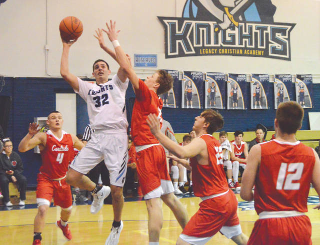 Legacy Christian Academy senior Erik Uszynski (32) was selected to the 2019 Division IV All-Ohio Special Mention team, March 19, by a statewide media panel of Ohio Prep Sportswriters Association members.