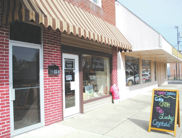 Whitney Vickers | Greene County News Coyne's Crystals in Fairborn is located at 25 W. Main St. and offers gems, minerals, fossils, tie dye shirts, essential oils, hand-crafted jewelry and more.