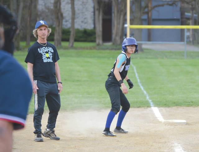 Despite the Bulldogs giving up 13 runs in the second inning, Yellow Springs coach Jim DeLong and second baseman Rebecca Spencer both worked hard to keep their team upbeat throughout Thursday's 21-13 loss to Marshall at Gaunt Park.