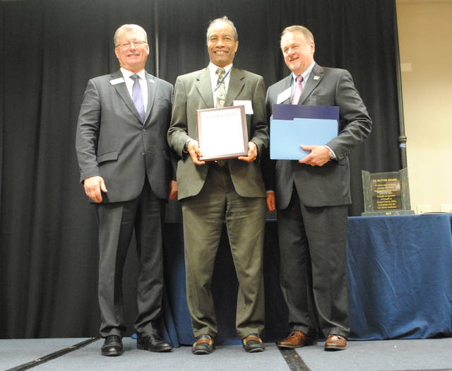 """Walter Price, senior systems engineer at Wright-Patterson Air Force Base Air Force Research Laboratory, was awarded the """"Career Achievement in Government Award"""" in Washington D.C. at the BEYA STEM Global Competition."""