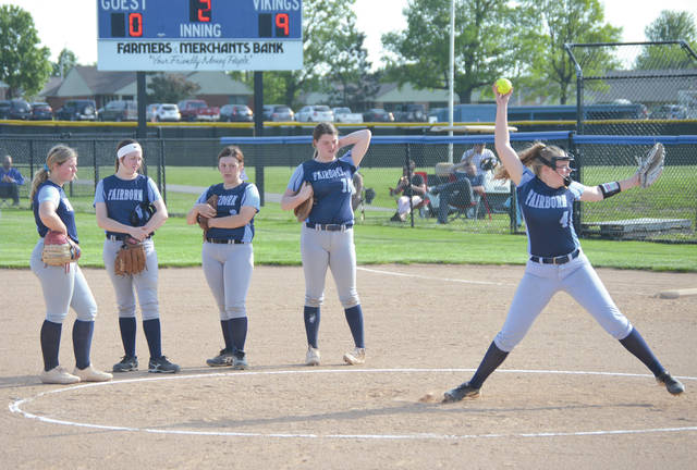 Body language mirrors the scoreboard as Fairborn makes a second-inning pitching change, May 8, in a Division I sectional semifinal game against host Miamisburg.