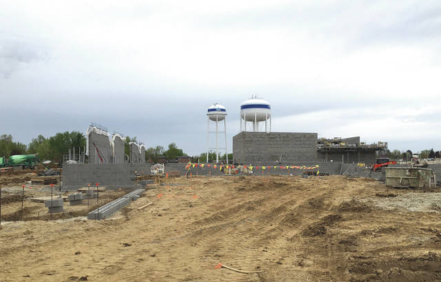 Submitted photos The new Fairborn Primary School facility is under construction.