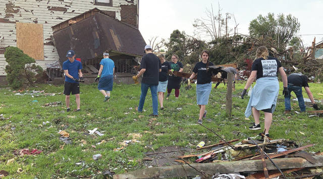 Submitted photos The Wright State University community is helping with tornado relief.