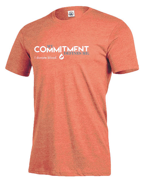 """Everyone who registers to donate will receive the Community Blood Center """"My Commitment Defines Me – I Donate Blood"""" t-shirt and a chance to win a YETI cooler and gear."""