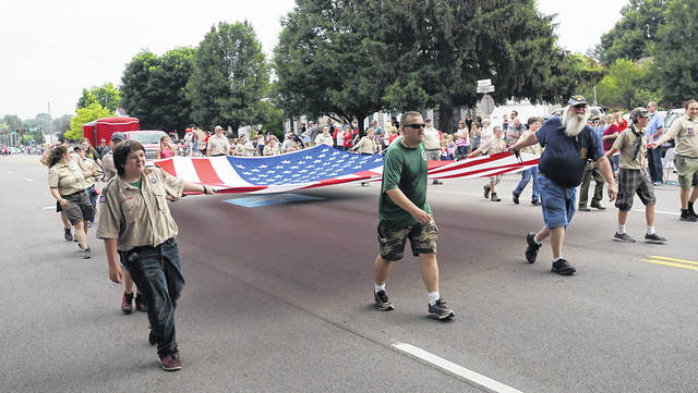 Barb Slone | Greene County News The 72nd Annual Fourth of July Parade rolled through Fairborn July 4, welcoming more than 100 floats, cars, walkers and marchers. It is noted as one of the oldest and largest in the Miami Valley.