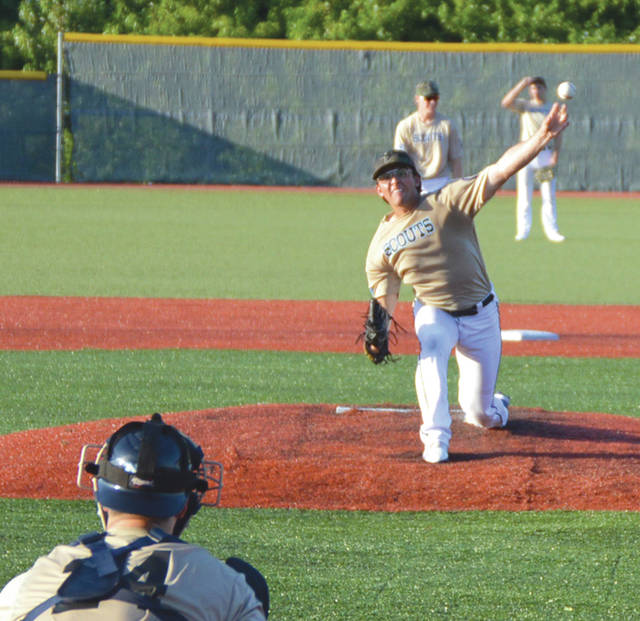 Garrett DeClue, of Western Nebraska CC, was an All-Star selection while leading the Xenia Scouts in innings pitched (52.2) and wins (tied with 3).