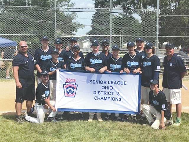 Fairborn's Senior League team won the District 8 Little League title last weekend in Eaton. The team is headed to Ironton for the opening round of the Little League state championships, with their first game scheduled for 10 a.m. on Saturday, July 6.