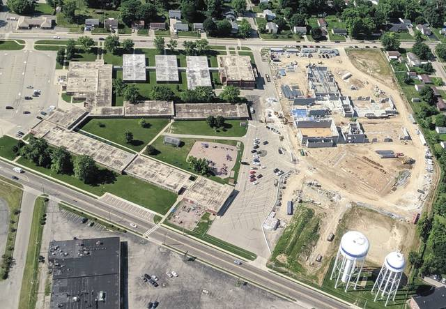 Submitted photos Contruction on the new Fairborn Primary School fell slightly behind due to the rainy spring season, but the district is still anticipating a June 2020 move-in.