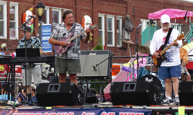 File photo Four bands are scheduled to perform during the Wednesday, July 3 Main Street Block Party, while two performers will entertain on Thursday, July 4 at the Community Park celebration just before fireworks dazzle attendees.