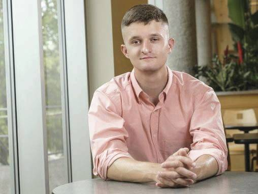 Submitted photo Scott Nicholson, a Fairborn High School graduate, is working toward a business management degree at Wright State while also serving in the National Guard and Army ROTC.