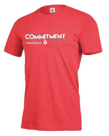 """Submitted photo Individuals who registers to donate will receive the new """"My Commitment Defines Me – I Donate Blood"""" t-shirt and is free to everyone who registers to donate with CBC July 1 through Aug. 31. It's the second of three t-shirt designs in the Lifesaving Adventure campaign and donors are challenged to collect all three."""