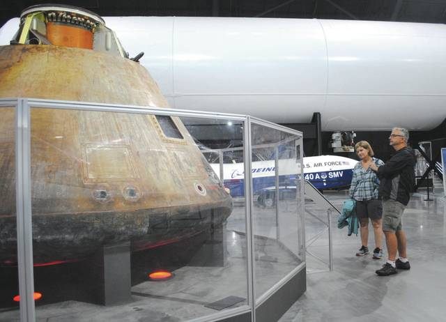 Whitney Vickers | Greene County News The National Museum of the United States Air Force includes a number of items from space exploration projects up for observation, including the Apollo 15 Command Module Endeavour.
