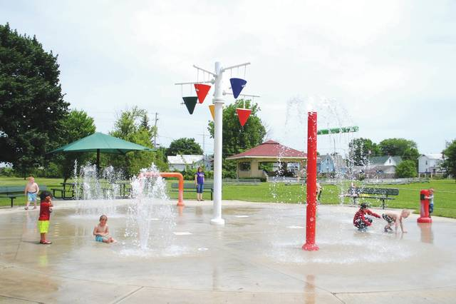 Whitney Vickers | Greene County News Greene County is expecting high temperatures in the coming days. Fairborn Central Park, 222 S. Central Ave., is home to the city's Sprayground which invites local children to cool off in the spraying water.