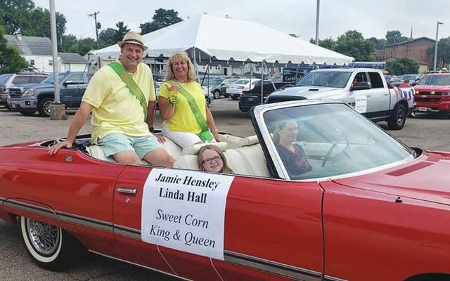 Submitted photo Jamie Hensley and Linda Hall have been crowned the 2019 Sweet Corn Festival King and Queen.
