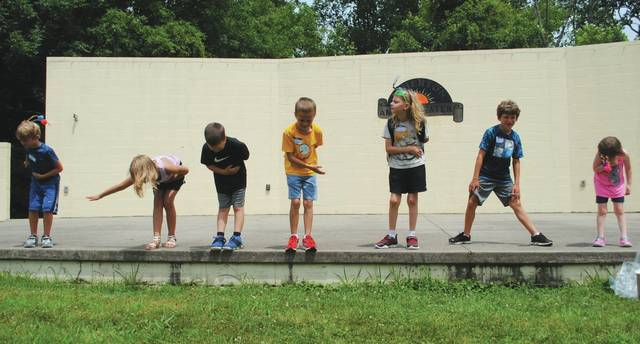 "Whitney Vickers | Greene County News The Fairborn Parks and Recreation Division has been hosting youth summer camps throughout the season. Some camps are three-days-long, while others are for one day only. Children attended ""Show Stoppers"" July 16 which highlighted theatre arts."
