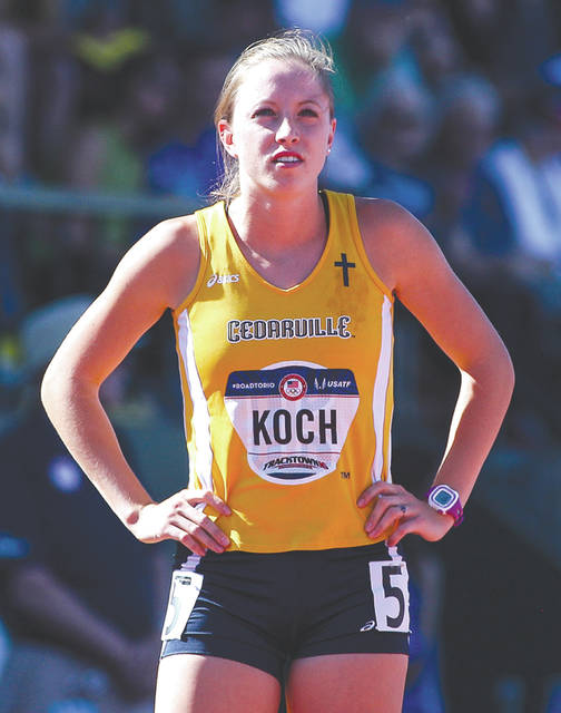 Carsyn Koch-Johnson while competing at the 2016 U.S. Olympic Team Trials in Eugene, Oregon.