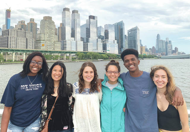 Submitted photo Fairborn's Noelle Townsend (third from right) explores New York City with fellow SHECP interns.