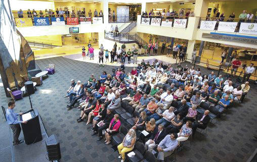 More than 250 students, faculty, deans, staff and community members gathered in the Atrium of the Student Union on Aug. 5 for the ceremony.