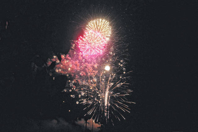 File photo Fireworks in the park will begin 9 p.m. Sunday, Sept. 1.