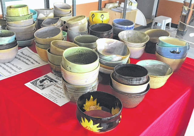 File photo Empty Bowl, which will be held Thursday, Oct. 10, features these ceramic bowls and all-you-can-eat soup to support Interfaith Hospitality Network of Greene County.
