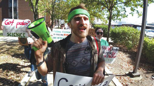 Submitted photo Wright State University students were inspired to organize a march to educate people who may not know much about climate change.