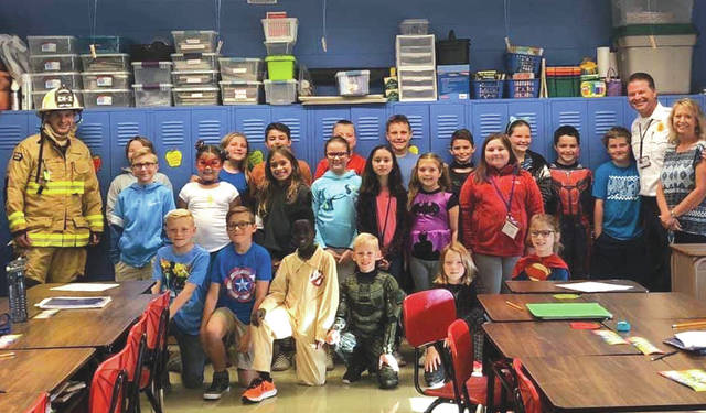 Submitted photos Fairborn City Schools partnered with the Fairborn Fire Department to highlight fire safety to students. National Fire Prevention week is highlighted from Sunday, Oct. 6 through Saturday, Oct. 12.