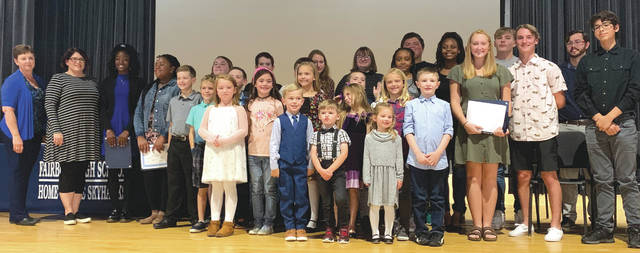 Submitted photo Fairborn City Schools recently honored its students and staff members of the quarter.