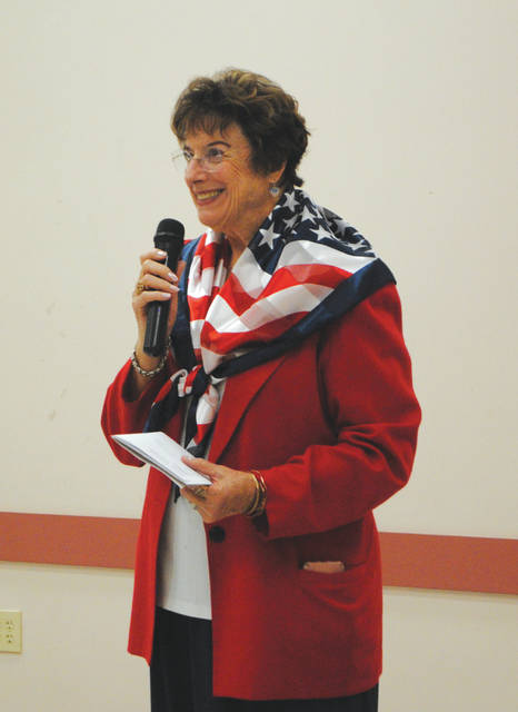 Whitney Vickers   Greene County News Carolyn Uecker, who served as the moderator for the event.