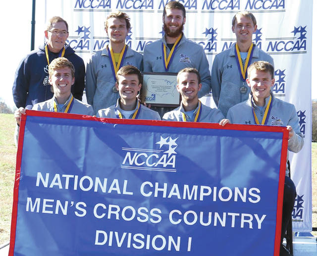 The Yellow Jackets men's team placed five runners in the Top 10 and cruised to the NCCAA men's title, Nov. 16 in Point Lookout, Missouri. The win is the Jackets' sixth national title in school history.