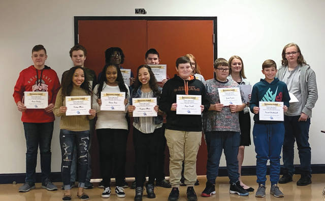 Submitted photos Fairborn High School recognized members of its Team Pride with certificates and a dinner.