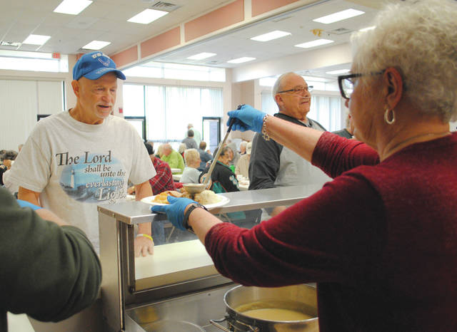 Whitney Vickers | Greene County News The Fairborn Senior Center, 325 N. Third St., will host a free community Thanksgiving meal Thursday, Nov. 28. Seatings will take place at noon and 1 p.m.