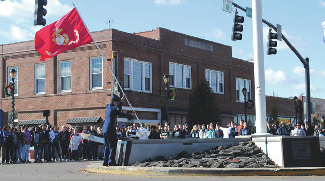 File photos The City of Fairborn will highlight Veterans Day with a ceremony slated to begin 10:30 a.m. Monday, Nov. 11 at the Fairborn Senior Center, 325 N. Third St. Pictured is a previous Veterans Day ceremony.
