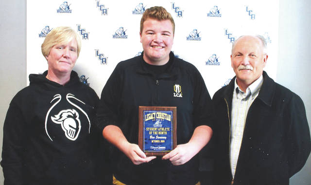 Ben Sweeney was chosen as the Edward Jones Investments Athlete of the Month for October for Legacy Christian Academy. This award is being sponsored by the office of Mike Reed at Edward Jones Investments of Xenia, serving Xenia, Jamestown, Cedarville and surrounding areas. Sweeney, a senior on the Knight's boys varsity golf team, helped lead his team to qualify for LCA's first ever OHSAA district golf tournament. He was a member of the varsity team all four years of high school. Sweeney has a grade-point average that is above 4.0. Congratulations!