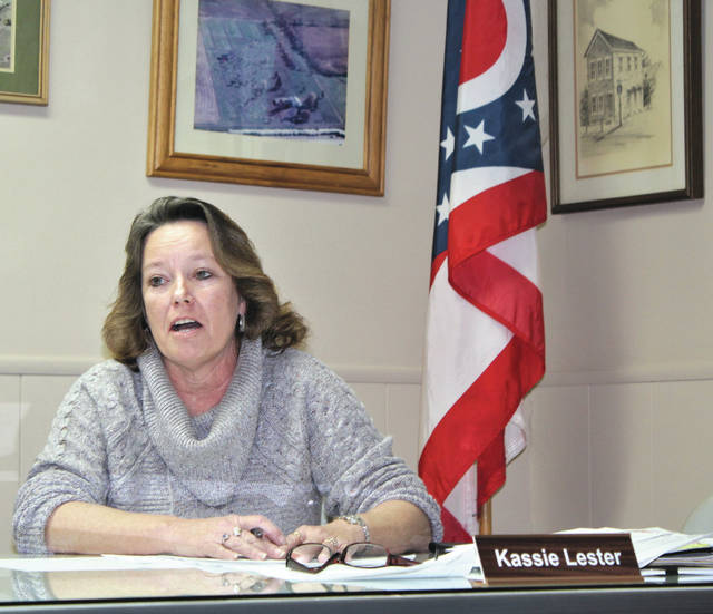 Linda Collins | Greene Couty News Kassie Lester shares her goals as a township trustee during her first meeting as an elected official.