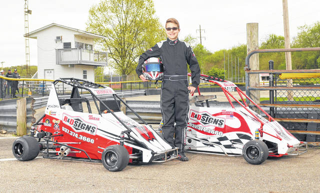 Chase Baker, a 13-year-old student at Clinton-Massie Middle School, had a successful 2019 racing quarter midget cars.