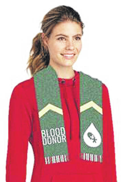 Everyone who registers to donate can bundle up with the free Blood Donor Winter Scarf.