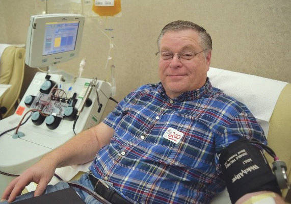 Submitted photo Dan Krane has made his 200th blood donation.