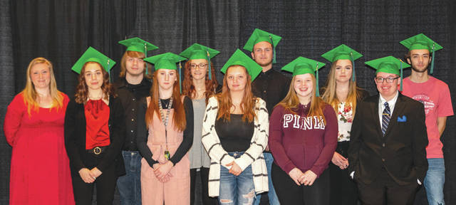 Submitted photo Thirteen students received their high school diploma Jan. 23 from the Fairborn Digital Academy.