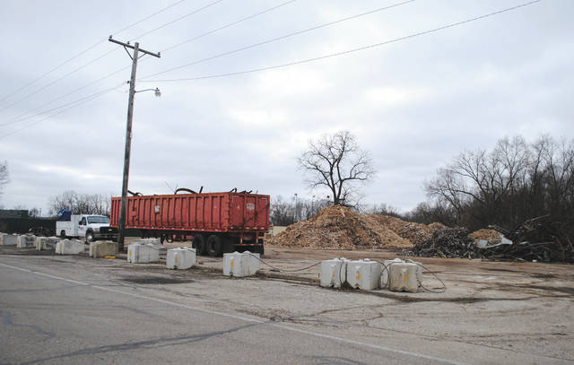Whitney Vickers | Greene County News Skyborn Skateland has been demolished. The property was purchased by Barrett Paving Materials, Inc. and the area was rezoned from a B-1 Business to Q-M to allow milling and mineral extraction, storing, processing and manufactoring to take place.