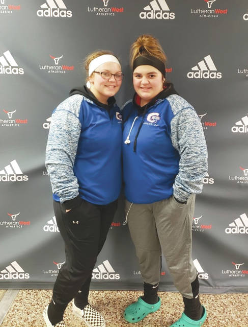 Greeneview sisters Elizabeth Harlow and Karlie Harlow (pictured), Fairborn's Helena Swanson and Kaileigh Nuessgen of Beavercreek will compete in the inaugural Girls State Wrestling Tournament, Feb. 22-23 at Davidison High School in Hilliard.