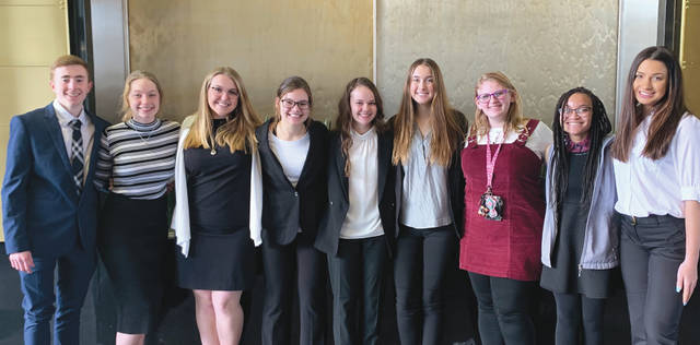 Submitted photo Participating students included (not pictured in this order) Caleb Schaefer, Anna Robinson, Madison Dewell, Karen Floyd, Hannah Baumgardner, Mallory Shroyer, Kyrstin Debusk, Keiana Briscoe, Kayla Nickel, Caleb Schaefer, Hannah Baumgardner and Karen Floyd