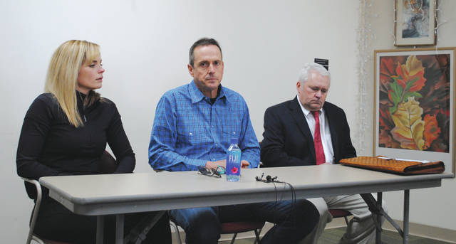 Whitney Vickers | Greene County News Molly and Lindsey Duncan, alongside their attorney Greg Lind, spoke to the media Feb. 14 about the Feb. 12 shooting that occurred at their home on the 3400 block of Grinnell Road.