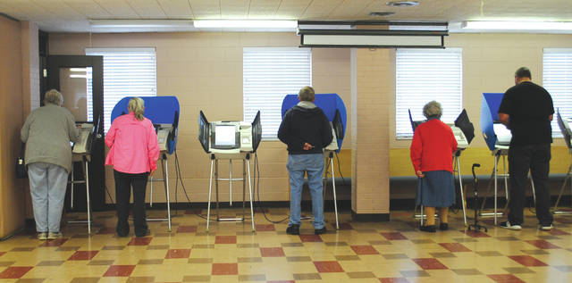 File photo Voters will take to the polls Tuesday, March 17 to decide on a proposed income tax increase.